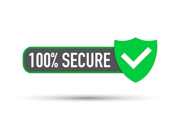 Bezpieczny Wektor. Odznaka Lub Przycisk Witryny Handlowej. Premium Wektorów