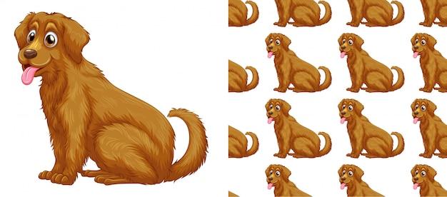 Bezszwowa i odosobniona zwierzę deseniowa kreskówka Darmowych Wektorów