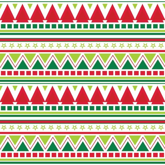 Bezszwowe Tło Boże Narodzenie Z Aztec Wzór Premium Wektorów