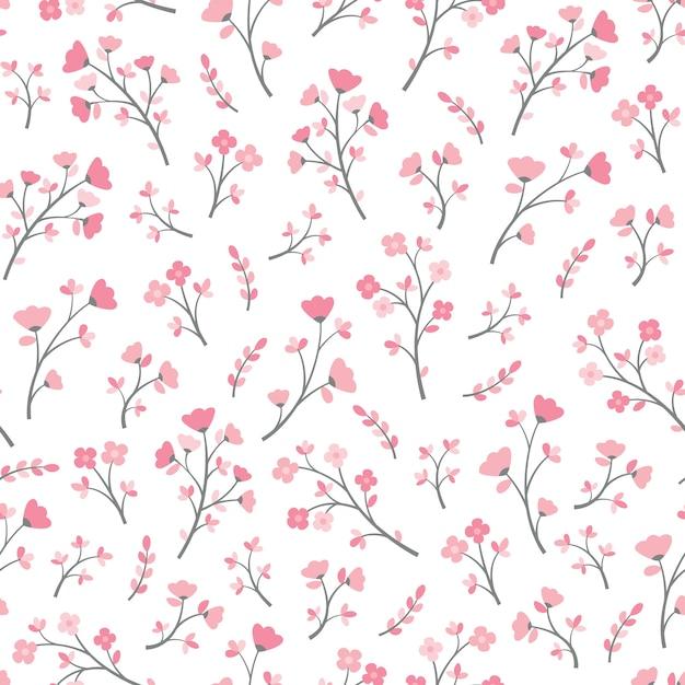 Bezszwowe tło wektor wzór kwiat Premium Wektorów