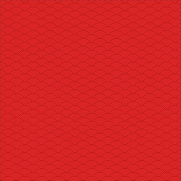 Bezszwowy Wzór Czerwony Chiński Falowy Temat Premium Wektorów
