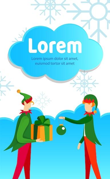 Beztwarzowe Postacie W Strojach Z Kostiumami Elfów Premium Wektorów