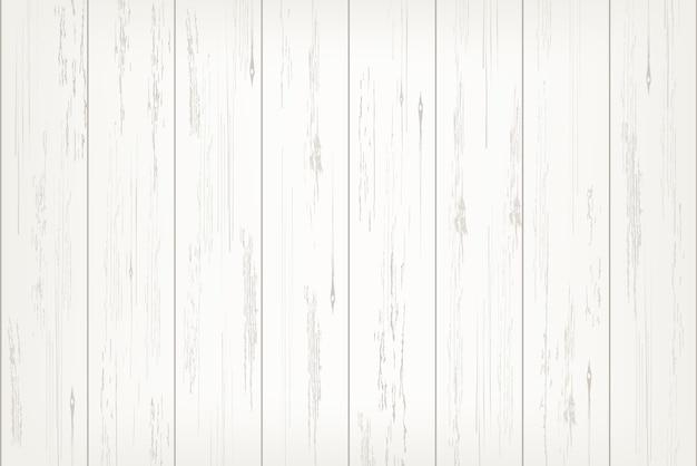 Biała drewniana deski tekstura dla tła. Premium Wektorów