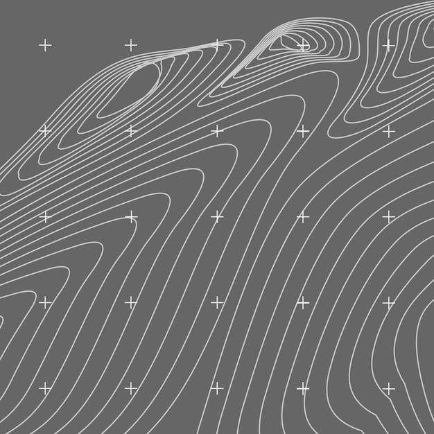 Biała i szara abstrakcjonistyczna konturowa mapa Darmowych Wektorów