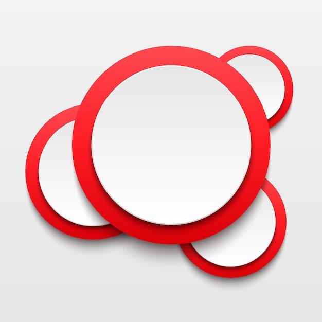 Biała księga okrągły bańka transparent tło. Premium Wektorów