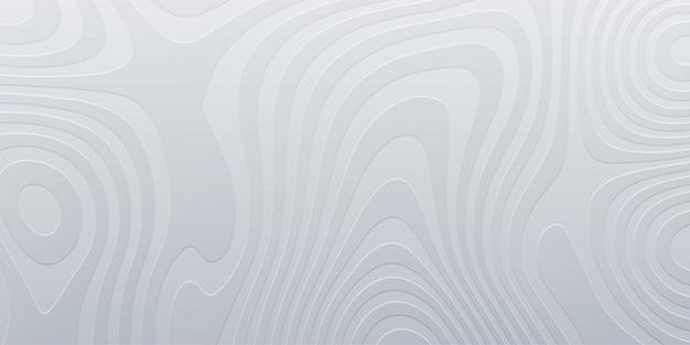 Biała Płaskorzeźba Topografii. Abstrakcyjne Tło. Minimalna Ilustracja. Płynne Marmurkowe Kształty. Zarys Krajobrazu Kartografii. Nowoczesny Projekt Plakatu. Premium Wektorów