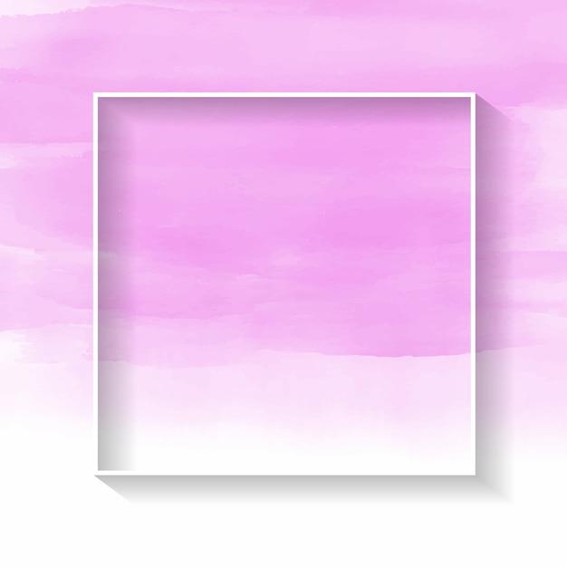 Biała ramka na różowym akwarela tekstury Darmowych Wektorów