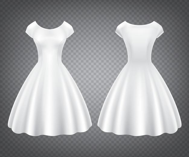 Biała Sukienka Retro Kobieta Na Wesele Lub Przyjęcie Darmowych Wektorów