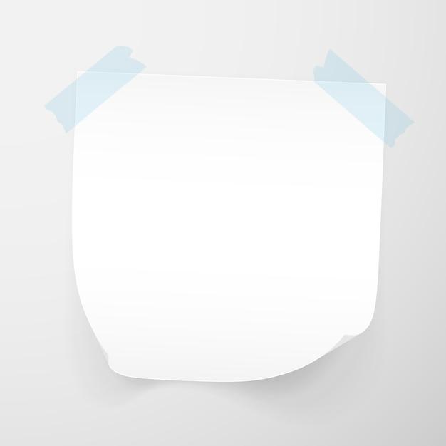 Białe Arkusze Papieru Firmowego Na Przezroczystym Tle. Karteczki Samoprzylepne. Premium Wektorów