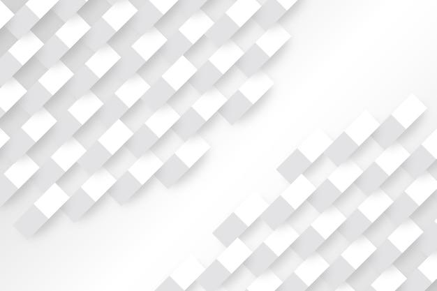 Białe geometryczne kształty w stylu 3d papieru Darmowych Wektorów
