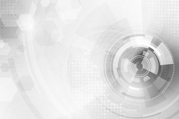 Białe Tło Technologii Premium Wektorów