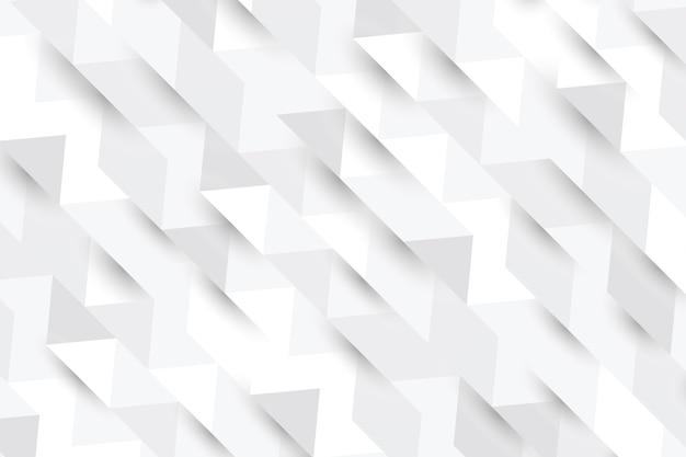 Białe Tło W Stylu 3d Papieru Premium Wektorów