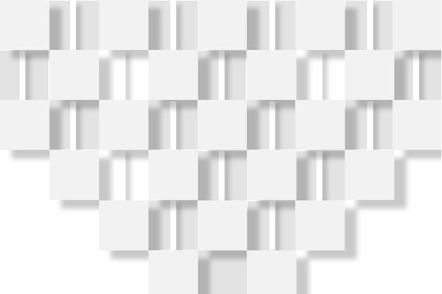 Białe Tło W Stylu 3d Papieru Darmowych Wektorów