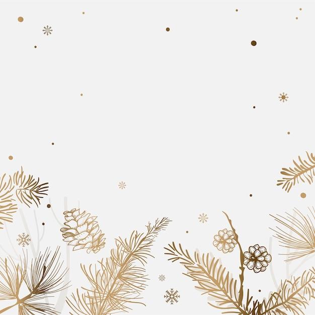 Białe Tło Z Dekoracją Zimową Darmowych Wektorów