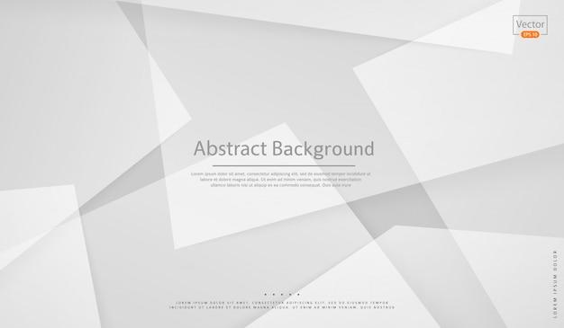 Białe Tło. Zarys Projektu. Geometryczny Styl Nowoczesny I Biznesowy Premium Wektorów