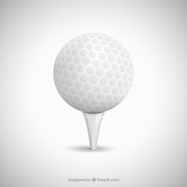 Biały golf piłka Darmowych Wektorów