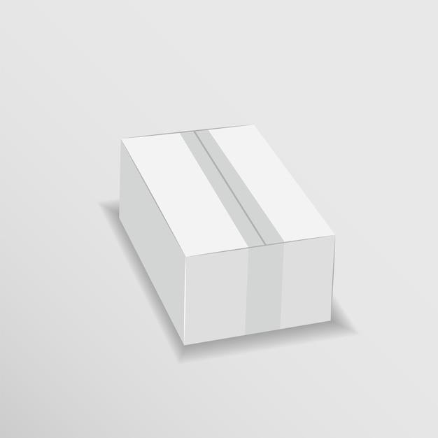 Biały karton łatwo zmienić kolory makiety szablon wektora Premium Wektorów