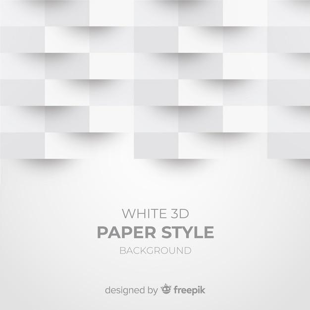Biały Papier 3d Styl Tło Darmowych Wektorów