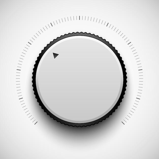 Biały Przycisk Muzyczny Technologii Premium Wektorów