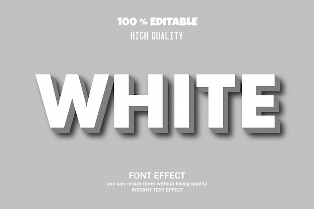 Biały Styl Tekstu 3d, Premium Wektorów