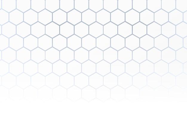 Biały Tło O Strukturze Plastra Miodu W Stylu 3d Darmowych Wektorów
