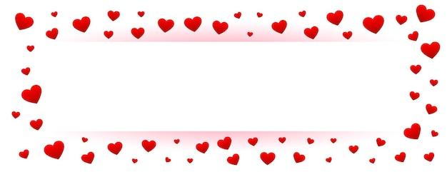 Biały Transparent Walentynki Z Ramką Czerwone Serca Darmowych Wektorów