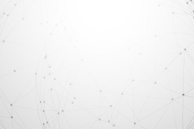 Biały Z Połączeniem Sieciowym Low Poly Darmowych Wektorów