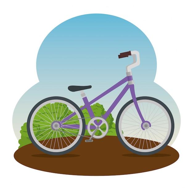 Bicykl z płatka i siedzenia ilustracją Darmowych Wektorów