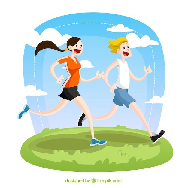 Biegacze ilustracji Darmowych Wektorów