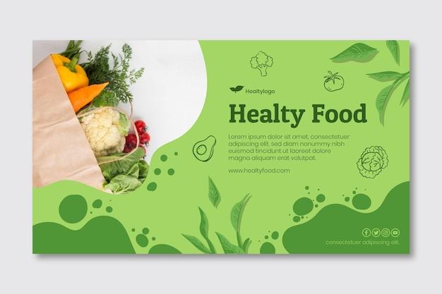 Bio I Baner Zdrowej żywności Premium Wektorów