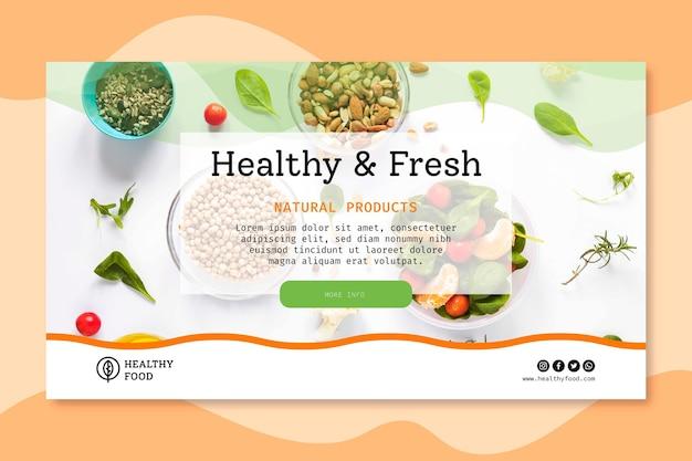 Bio I Baner Zdrowej żywności Darmowych Wektorów