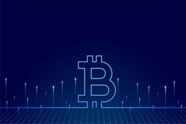 Bitcoin Technologia Kryptowaluty Tło Wirtualnych Pieniędzy Darmowych Wektorów