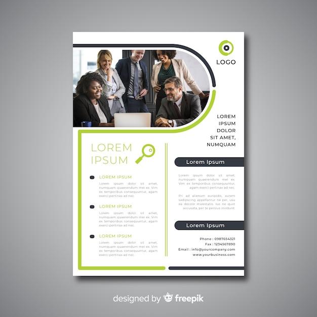 Biznes broszura szablon Darmowych Wektorów