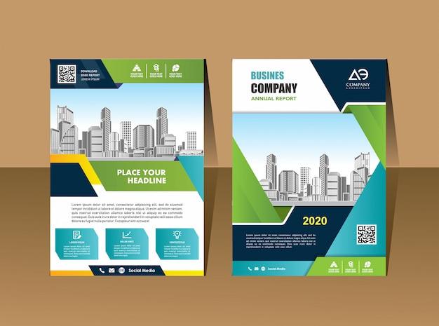 Biznes broszury ulotki szablon profil firmy magazyn plakat roczny raport książki i broszury Premium Wektorów