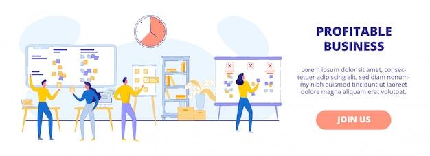 Biznes Przynoszący Zyski. Praca Zespołowa Nad Projektem Różnych Komponentów Premium Wektorów