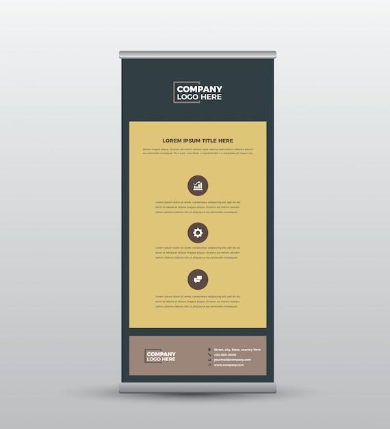Biznes Roll Up Banner I Projektowanie Plakatów Premium Wektorów