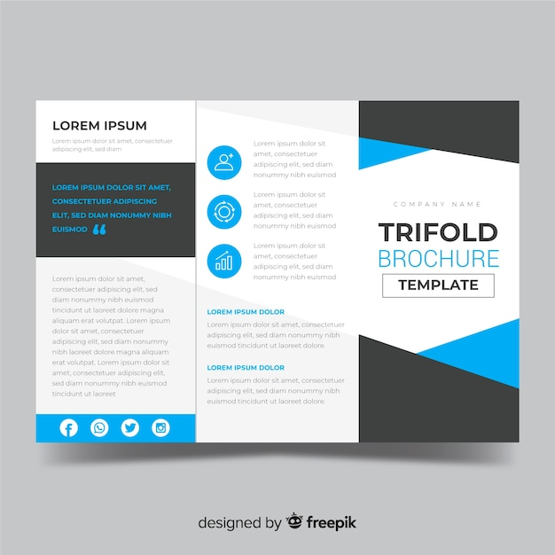 Biznes rozdawać broszury szablon Darmowych Wektorów