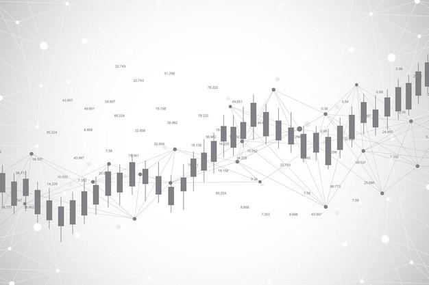 Biznes świeca Stick Wykres Wykresu Ilustracji Handlu Inwestycji Giełdowych Premium Wektorów