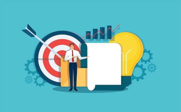 Biznesmen Dokonywania Prezentacji, Analityk Biznesowy Premium Wektorów