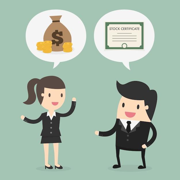 Biznesmen i kobieta biznesu projektowania Darmowych Wektorów