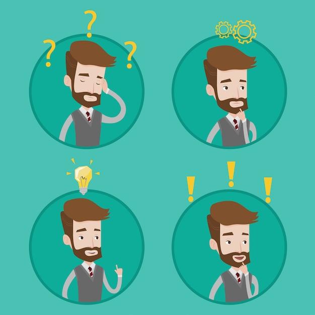 Biznesmen Pracuje Nad Nowym Planem Biznesowym. Premium Wektorów