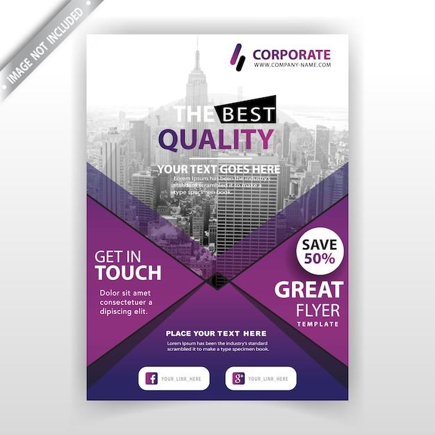 biznesowa broszura handlowa Darmowych Wektorów