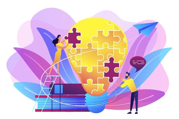 Biznesowa Burza Mózgów. Oświadczenie Wizji, Misja Biznesowa I Firmy, Koncepcja Planowania Biznesowego Darmowych Wektorów