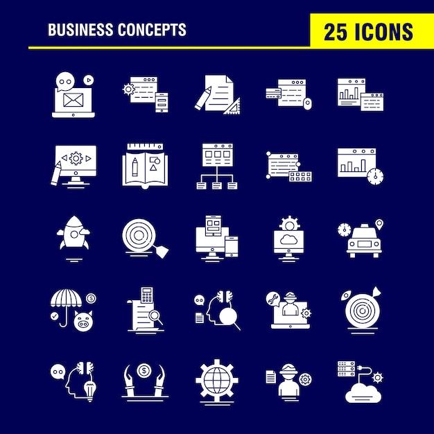 Biznesowa ikona glifów Darmowych Wektorów