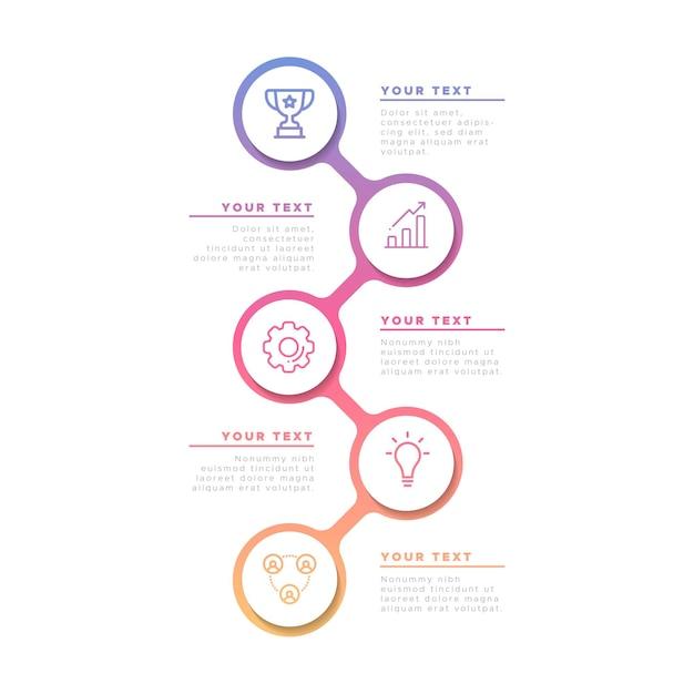 Biznesowa Infographic W Gradiencie Darmowych Wektorów