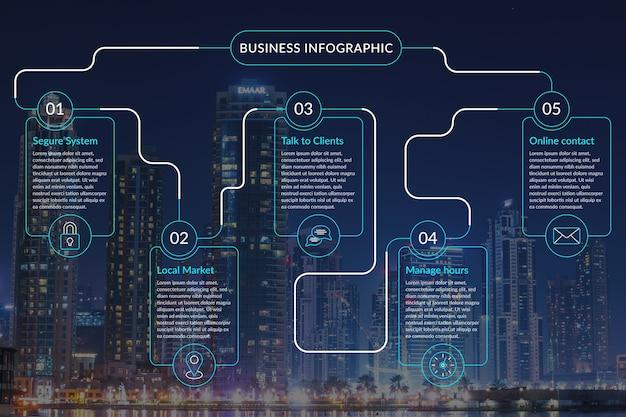 Biznesowa Infographic Z Fotografią Darmowych Wektorów