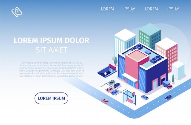 Biznesowa strona internetowa serwisu nieruchomości internetowych Premium Wektorów
