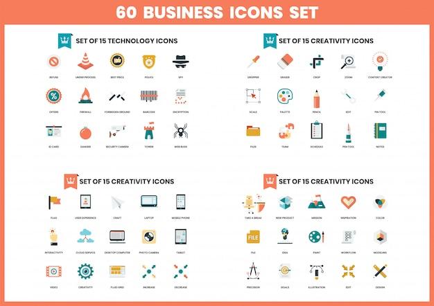 Biznesowe ikony ustawiać dla biznesu Premium Wektorów