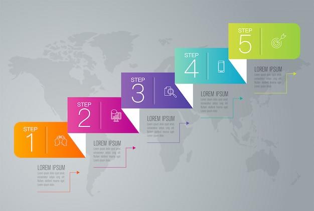 Biznesowi infographic elementy Premium Wektorów
