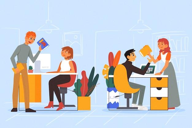 Biznesowi Koledzy Ilustracyjni Darmowych Wektorów